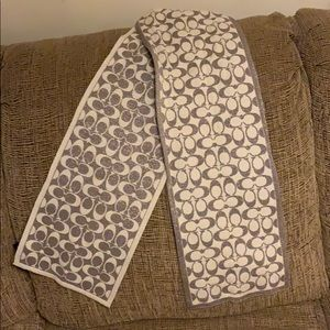 Coach silver and cream shimmer scarf
